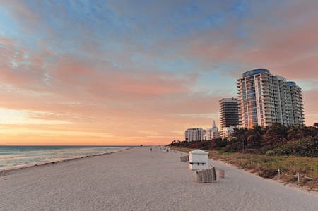 Miami Beach ocean view at sunset Stock Photo - 12993273
