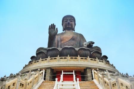 Giant bronze Buddha statue in Hong Kong.