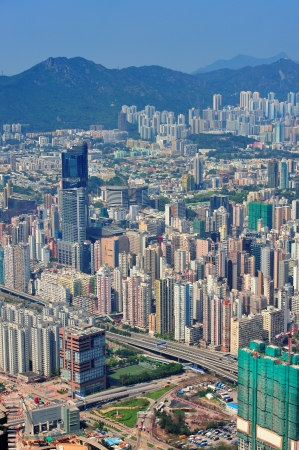 Urban architecture in Hong Kong in the day Stock Photo - 14361147