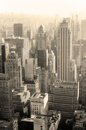 Urban architecture in black and white from New York City Manhattan. photo