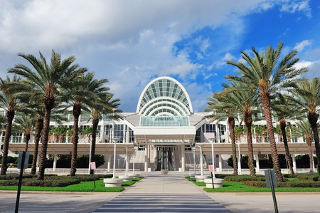 ORLANDO, FL - FEB 6: The Orange County Convention Center on International Drive on February 6, 2012 in Orlando. It offers 7M sq ft space and ranks as the second largest convention center in the US. Stock Photo