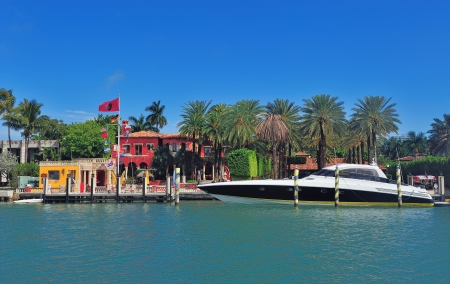Luxury house on Hibiscus Island in downtown Miami, Florida. photo