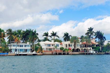 waterfront property: Luxury house on Hibiscus Island in downtown Miami, Florida.