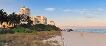 Miami Beach ocean view at sunset photo