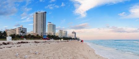 Miami Beach ocean view at sunset