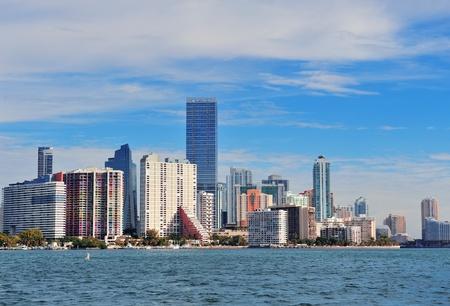 Urban architecture over sea from Miami Florida in the day. Stock Photo - 15455287