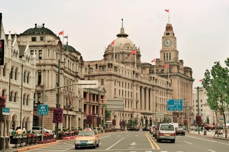 오래된 건물과 상하이의 와이탄의 스트리트 뷰 (Street View)