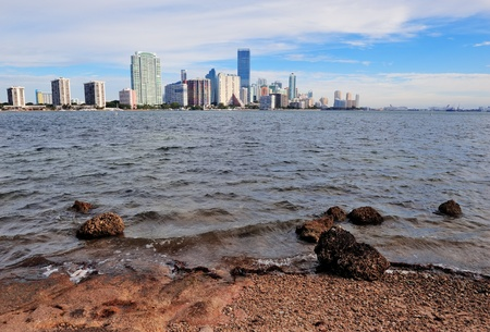 Miami downtown city skyline in the day with cloud and blue sky Stock Photo - 15655891