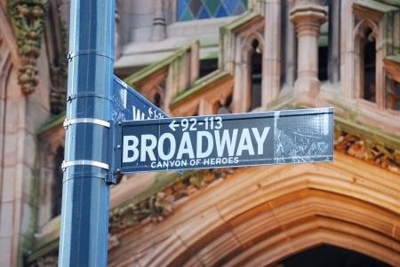 ブロードウェイ道路標識、ニューヨーク市