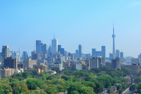 Toronto city skyline view with park and urban buildings Stock Photo - 17398305