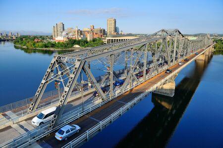 alexandra: Alexandra Bridge over river in Ottawa Stock Photo