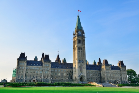 Parliament Hill building closeup in Ottawa, Canada photo