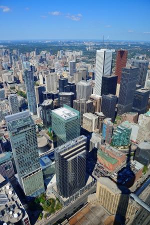 Toronto urban architecture aerial view. photo
