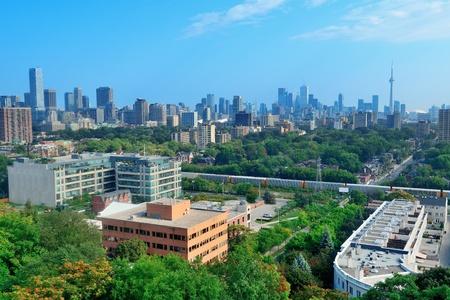 Toronto city skyline view with park and urban buildings Stock Photo - 17640493