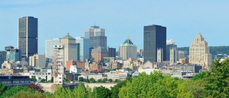 Montreal day view panorama from Mont Royal with city skyline photo