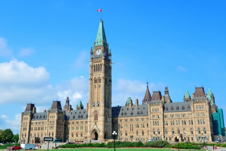 Parliament Hill gebouw close-up in Ottawa, Canada Stockfoto