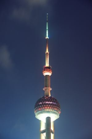 excluding: SHANGHAI, CHINA - MAY 28: Oriental Pearl Tower over river on May 28, 2012 in Shanghai, China. The tower was the tallest structure in China excluding Taiwan from 1994¨C2007 and the landmark of Shanghai.