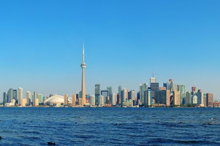 Toronto skyline panorama over lake with urban architecture  Stock Photo - 18041683