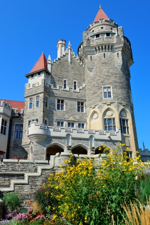 toronto: Casa Loma in Toronto with blue sky