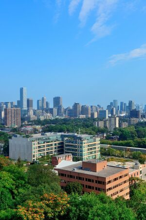 Toronto city skyline view with park and urban buildings Stock Photo - 18041661