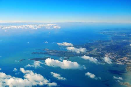 St Thomas aerial view in Virgin Islands.