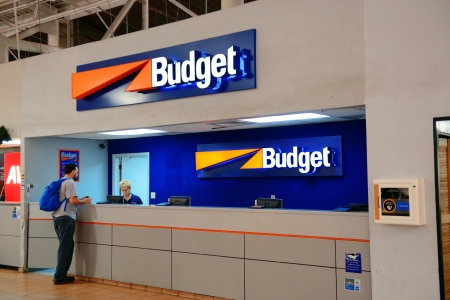 the virgin islands: ST THOMAS, VIRGIN ISLANDS - JAN 7: Car rental company counter at airport on January 7, 2013 in St Thomas, Virgin Islands. Cyril E. King Airport is the busiest in the United States Virgin Islands Editorial