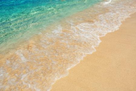 the virgin islands: Colorful sea water at beach from St John, Virgin Islands.