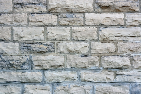 Colorful brick wall background from old building in Quebec City photo