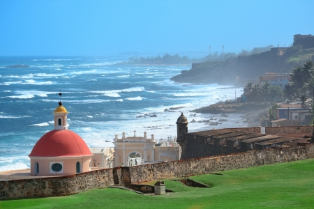 juan: Old San Juan ocean view with buildings