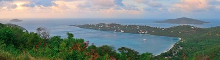 the virgin islands: Virgin Islands St Thomas sunset with colors