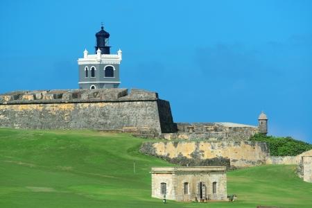 san juan: El Morro castle at old San Juan, Puerto Rico.