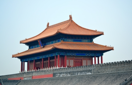 Ancient historical buildings in Imperial Palace in Beijing, China