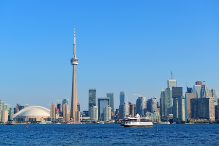 Toronto skyline panorama over lake with urban architecture. Stock Photo - 21596363