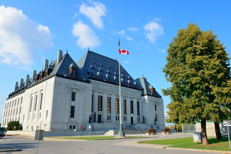 Ottawa, CANADA - SEP 8: Supreme Court of Canada on street on September 8, 2012 in Ottawa, Canada. It is the final court of appeals in Canada and grants permission 40 to 75 litigants each year.