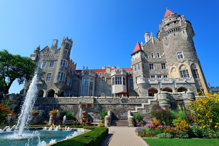Casa Loma in Toronto with blue sky