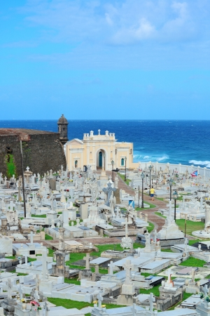Cemetery in old San Juan, Puerto Rico