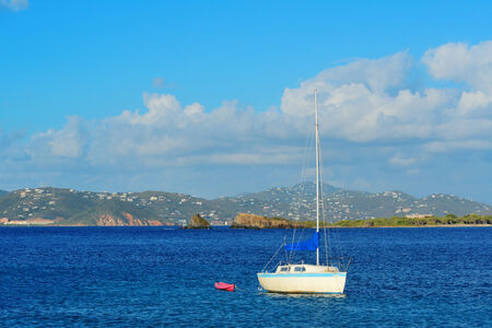 st  john: Sailing boat rest at bay in St John, Virgin Islands