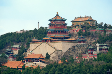 historical architecture: Summer Palace with historical architecture in Beijing.