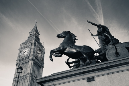 Queen Bodica statue in Westminster in London. photo
