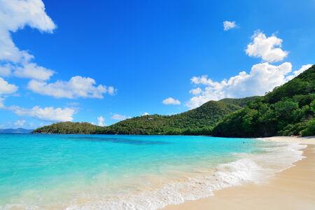 st john: Colorful beach in St John, Virgin Island.
