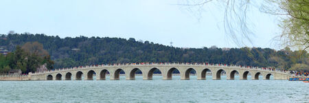 historical architecture: Summer Palace with historical architecture in Beijing