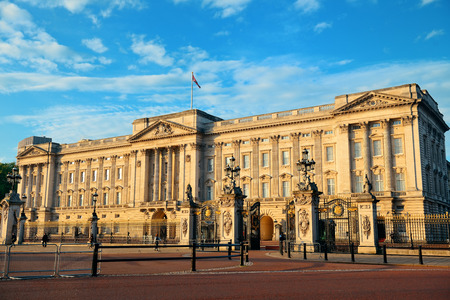 Buckingham Palace in the morning in London. Editorial