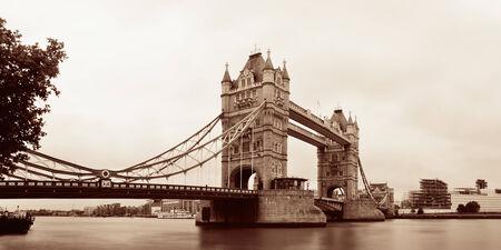 thames: Tower Bridge in London over Thames River as the famous landmark. Stock Photo