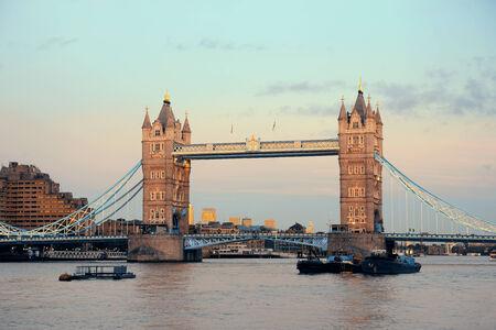 Tower Bridge over Thames River as the city landmark..