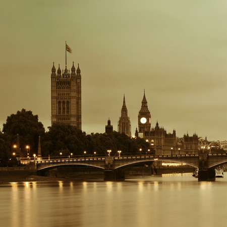 westminster: Westminster with House of Parliament, London.