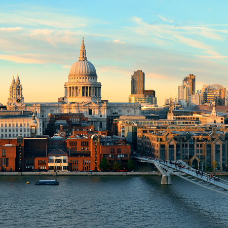 st paul s cathedral: St Paul s cathedral in London as the famous landmark   Stock Photo
