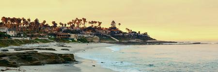 la: La Jolla Cove beach at San Diego