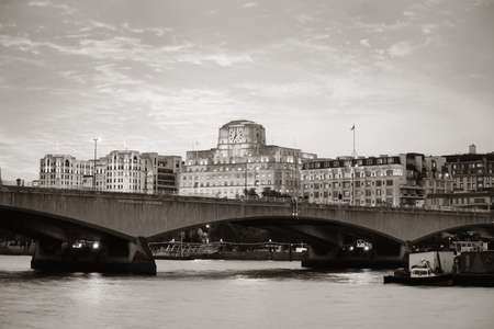 thames: London cityscape with urban buildings over Thames River