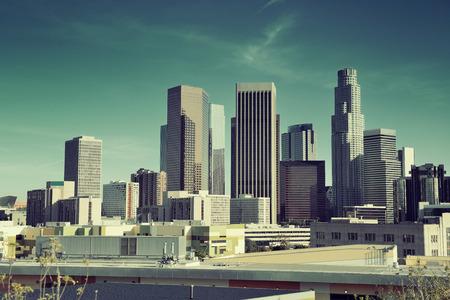 ロサンゼルス ダウンタウンを都市のアーキテクチャを表示します。 写真素材