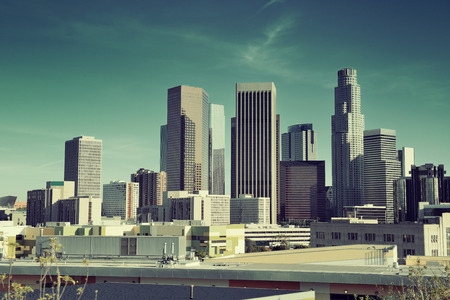Los Angeles downtown view with urban architectures. photo